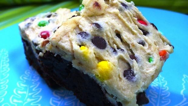 Cookie Dough Brownies Recipe | Ruby Skye PI